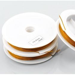 15m gold Schmuckdraht 0,8mm goldfarbenes Fädelmaterial - Schmuckztubehör