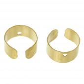 2 Stück / 1 Paar gold Ohr Cuffs ca. 10x5mm goldfarbene Ohrklemmen - Schmuckzubehör zum Ohr Cuffs selbermachen
