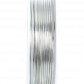Hellsilber Kupferdraht 1mm Schmuckdraht auf 2m Rolle - Schmuckzubehör