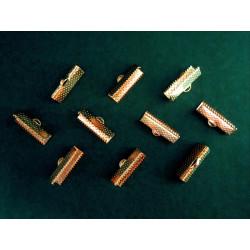 10x rose gold Bandklemme 20mm rosegold Bandklemmen - rosegold Schmuckzubehör