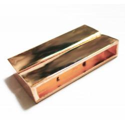 1x rose gold Magnet Verschluss 38x19x7mm rose gold Einklebverschluss - rose gold Schmuckzubehör