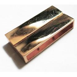 1x rosegold Magnet Verschluss II. Wahl 37x19x7mm Innen 34x4mm rose gold Einklebverschluss - rose gold Schmuckzubehör