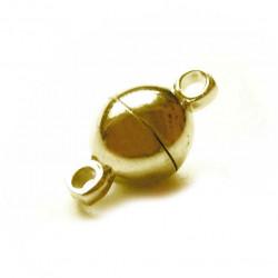1x gold Magnetverschluss 8x13mm kugelförmig - Schmuckzubehör Magnetverschluss