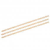 50cm rosegold Kette 3x4,6x0,8mm Aluminium Gliederkette rosegold Schmuckkette - rosegold Schmuckzubehör