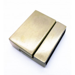 1x bronze Magnet Verschluss 22x24x5,5mm Innen 21x3mm bronze Einklebverschluss - bronze Schmuckzubehör