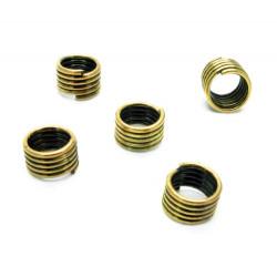 5x breiter altgold Ring 6x4mm Großlochperle rund in altgold - Schmuckzubehör