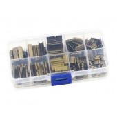 160 bronze Bandklemmen 6-25mm in verschiedenen Größen Sortiment in Box - bronze Schmuckzubehör Set