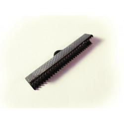 10x gunmetal Bandklemme 30mm dunkel metallfarben / schwarz - Schmuckzubehör
