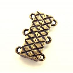 1x bronze Magnetverschluss 21x14x6mm für 3 Stränge - bronze Schmuckzubehör Magnetverschluss