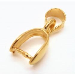 1x vergoldete Collierschlaufe 17mm Innen 7mm gold Anhängerhaken - gold Schmuckzubehör Collierschlaufe