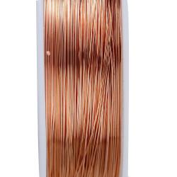 Rosegold Kupferdraht 0,3mm Schmuckdraht auf 20m Rolle - Schmuckzubehör