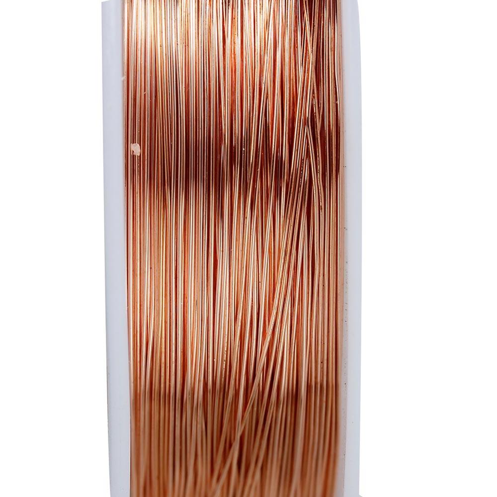 Rosegoldfarben Kupferdraht 0,3mm Schmuckdraht auf 20m Rolle ...