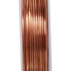 Rosegold Kupferdraht 1mm Schmuckdraht auf 2m Rolle - Schmuckzubehör
