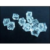 10x transparent farblos Acryl Würfel Perlen 8 mm