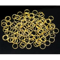 10x vergoldete Spaltringe 8mm rund gold Doppelringe - Schmuckzubehör Spaltring