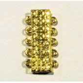 1x 5-Strang Magnetverschluss 19x36x7mm Schmuckverschluss - Schmuckzubehör Magnetverschluss