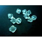 10x transparent farblos Acryl Rhomben Perlen 8 mm