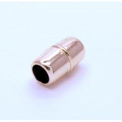 1x rosegold Acryl Magnetverschluss 16x9mm innen 6mm Verschluss zum Einkleben Zylinder - rosegold Schmuckzubehör