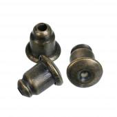 10 Stück bronze Ohrstopper 6x5mm für Ohrstecker und Ohrfedern - bronze Schmuckzubehör zum Ohrringe selbermachen