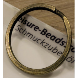 Schlüsselring 30mm großer Ring bronzefarben matt stabil - Schlüsselanhänger selber machen