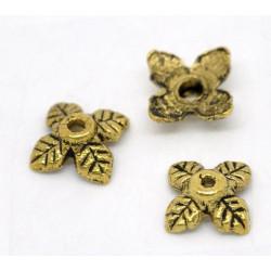 10x gold Perlenkappen ca. 8x6mm goldfarbene Perlen Kappen - Schmuckzubehör gold Perlenkappe