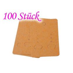 100 natur braune Schmuck Karten 70x50mm Papier ohne Schrift Schmuck Display Ohrringe - Schmuckzubehör