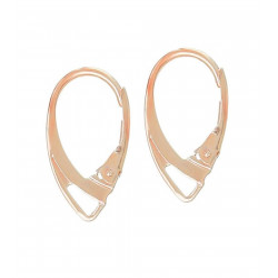 1 Paar rosegold Brisuren 18x11mm geschlossene Ohrhaken Ohrfedern rosegold Brisuren - Schmuckzubehör zum Ohrringe basteln