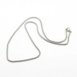 1x Edelstahl Halskette ca. 44cm 2mm Stärke Erbskette aus Edelstahl - Schmuckzubehör Schmuckkette
