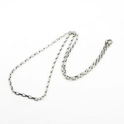 1x Edelstahl Halskette ca. 50cm 2mm Stärke Venezianerkette mit länglichen Gliedern aus Edelstahl - Schmuckzubehör Schmuckkette