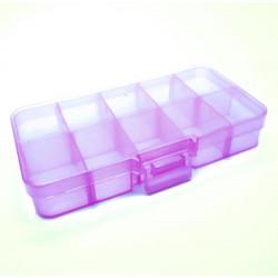 Lila Sortierbox 132x68x23mm transparente Aufbewahrungsbox - Schmuckzubehör Aufbewahrungsbox