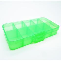 Grüne Sortierbox 132x68x23mm transparente Aufbewahrungsbox - Schmuckzubehör Aufbewahrungsbox