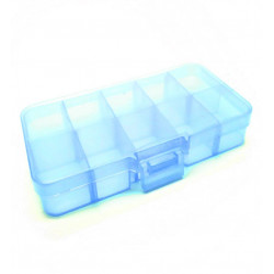 Blaue Sortierbox 132x68x23mm transparente Aufbewahrungsbox - Schmuckzubehör Aufbewahrungsbox