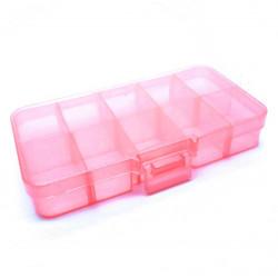 Pink Sortierbox 132x68x23mm transparente Aufbewahrungsbox - Schmuckzubehör Aufbewahrungsbox