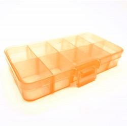 Orange Sortierbox 132x68x23mm transparente Aufbewahrungsbox - Schmuckzubehör Aufbewahrungsbox
