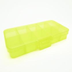Gelbe Sortierbox 132x68x23mm transparente Aufbewahrungsbox - Schmuckzubehör Aufbewahrungsbox