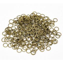 50x bronze Biegering 6mm Stärke 0,7mm rund bronzefarbene Binderinge - bronze Schmucktzubehör