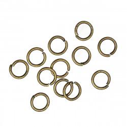 50x bronze Biegering 5mm Stärke 0,7mm rund bronzefarbene Binderinge - bronze Schmucktzubehör