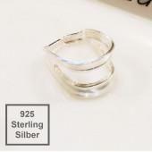1x Sterling Silber Collierschlaufe 9x7x5mm Haken für Anhänger 925 Silber - 925 Schmuckzubehör Anhängerhaken