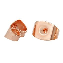 10x rosegold Ohrstopper 6x5mm für rosegold Ohrstecker - Schmuckzubehör zum Ohrringe selbermachen