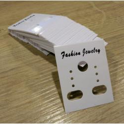 50 weiße Schmuckkarten 36x30mm weißes Schmuck Display Ohrringe Kunststoff - Schmuckzubehör