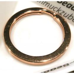 Rosegold Schlüsselring 30mm Ring rosegoldfarben stabil und schlicht - Schlüsselanhänger selber machen
