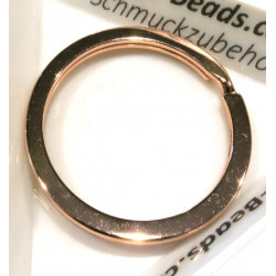 Rosegold Schlüsselring 32mm Ring rosegoldfarben stabil und schlicht - Schlüsselanhänger selber machen