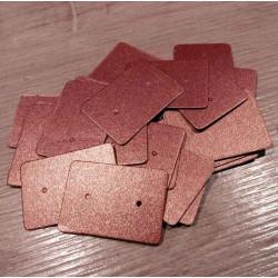 20 braune Schmuck Karten 33x25mm Papier ohne Schrift Schmuck Display Ohrstecker - Schmuckzubehör