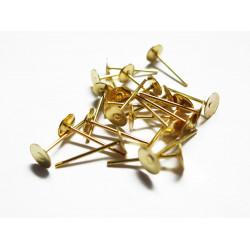 20 Stück / 10 Paar gold Ohrstecker 12x6mm zum Bekleben Studs - gold Schmuckzubehör für Ohrringe