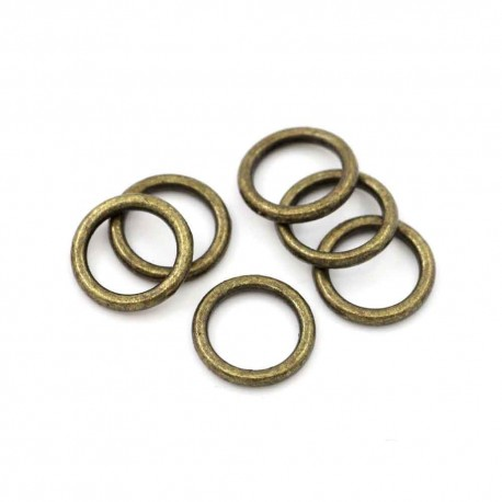 20x bronze Ring 8mm x 1,5mm geschlossener runder bronzefarbener Ring - bronze Schmuckzubehör