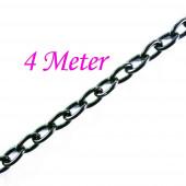 4m schwarze Eisen Kette 5x3mm schwarze Gliederkette - Schmuckzubehör