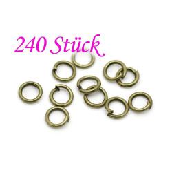 240x bronze Biegering 5mm Stärke 1mm runder Bindering bronze Schmucktzubehör