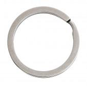1x Edelstahl Schlüsselring 30mm flacher Ring silberfarben stabil und schlicht - Schlüsselanhänger selber machen
