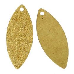 1x gold Stardust Anhänger 25x10mm goldfarben Schmuckanhänger - Schmuckzubehör