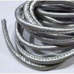 3m synth. silber Lederband 6mm silber Kunstlederband - Schmuckzubehör